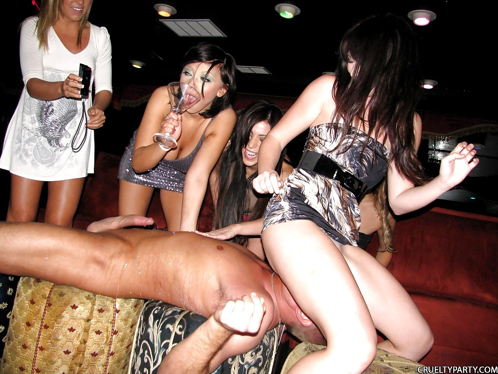A group of crazy relaxed beauties blowing