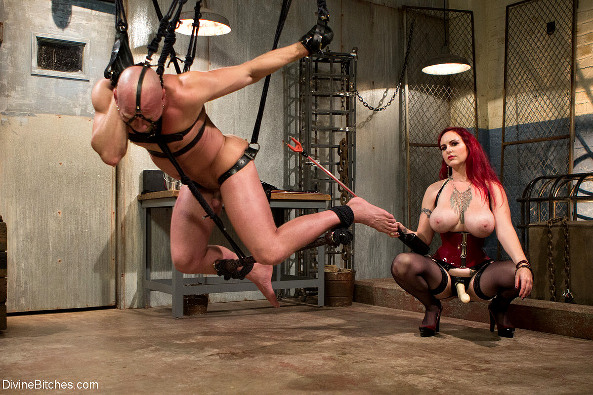 Mz berlin humiliates fucks and punishes slave with no limits