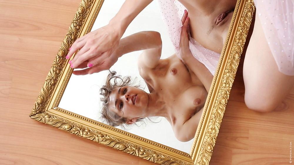 Big boob selfie mirror